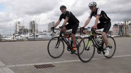 The Crafted Classic cycle event leaving Ipswich. Picture: NIGE BROWN.