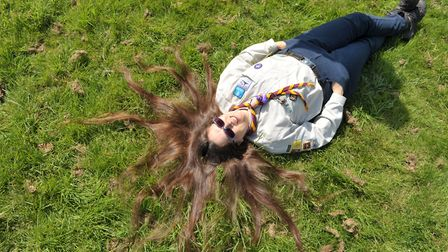 The 51-year-old is donating her long locks to the Little Princess Trust Picture: SARAH LUCY BROWN
