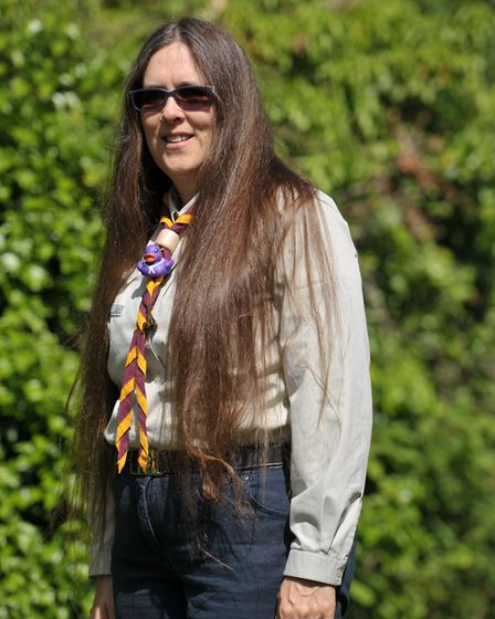 The scout leader, from Brantham, is planning to brave the shave later this year Picture: SARAH LUCY