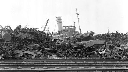 For several years thousands of tons of scrap metal was heaped up on the island site at Ipswich Dock,