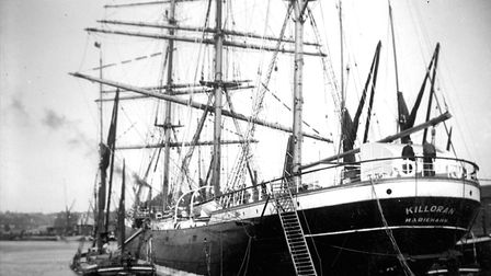 Huge sailing ships brought grain to Ipswich. The last clipper left Ipswich in June 1939. The three M