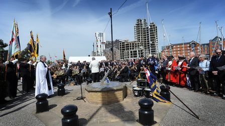 Hundreds gathered for a remembrance service of the Dunkirk Little Ships at the Haven Marina in Ipswi