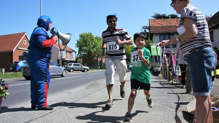 Hundreds of people took part in the Kesgrave 5km fun run. Picture: CHLOE BARRY