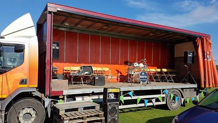 A stage on board a lorry at last year's Somersham Wheelie Fun Day. Picture: CRAIG FORDHAM