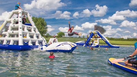 Visitors will have the opportunity to get wet and wild on the dizzying Cyclone. Picture: AQUA PARKS