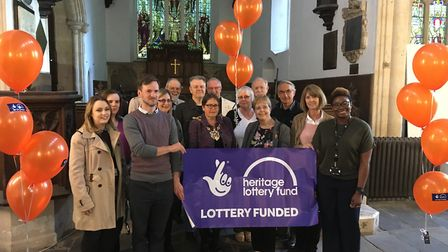 Volunteers behind the Ipswich Arts Centre celebrate a Heritage Lottery Fund grant announcement Pictu