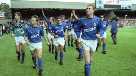 Fisons sponsored Ipswich Town Football Club from the 1986/87 season until 1994/95, including 1991/92