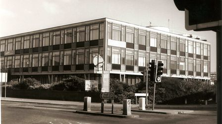 Fisons HQ in Princes Street when the building was for sale (probably following Norsk Hydro's sale to