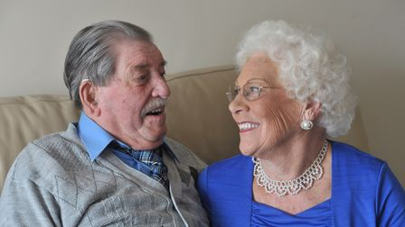 Jean and Joseph Cass are still very much in love after 70 years. Picture: SARAH LUCY BROWN