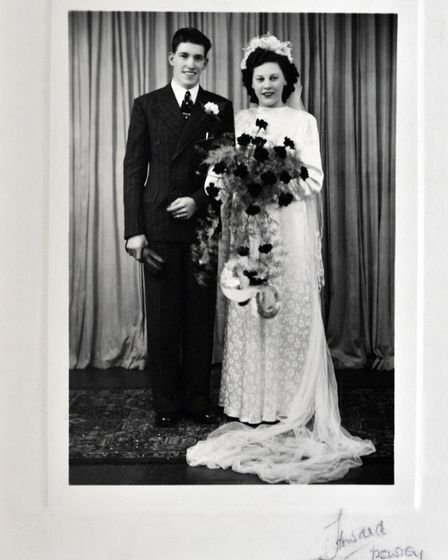 Joseph and Jean Cass on their wedding day.