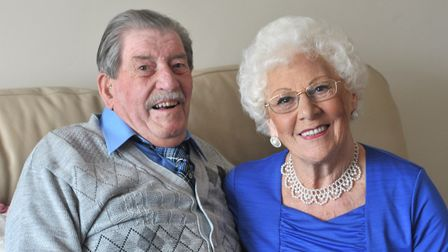 Jean and Joseph Cass are celebrating 70 years together. Picture: SARAH LUCY BROWN