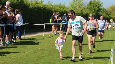 Young runners taking part in the Alton Water Run 2k. Picture: ROSEMARY BUTLER