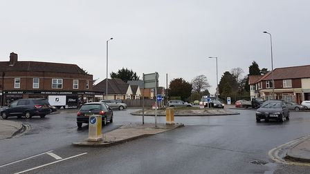 Roadworks at the Heath Road/Foxhall Road/Bixley Road roundabout were recently undertaken as part of