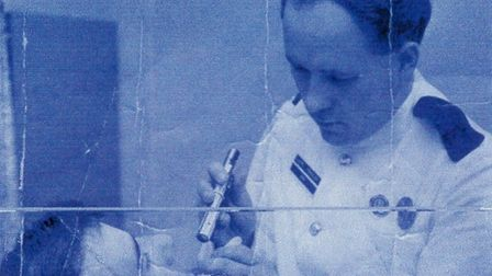 Chris Fendley working as a nurse. Picture: CONTRIBUTED BY FAMILY