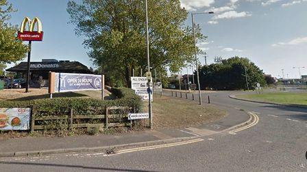 The crash happened on the 14 roundabout in Felixstowe. Picture: GOOGLE