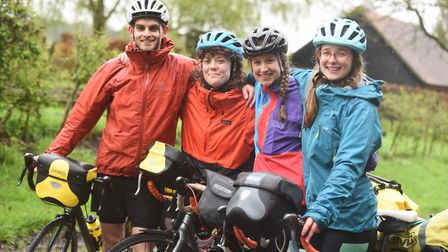 Junior doctors set off on epic cycle ride across Europe for charity. From left to right: Harrison St