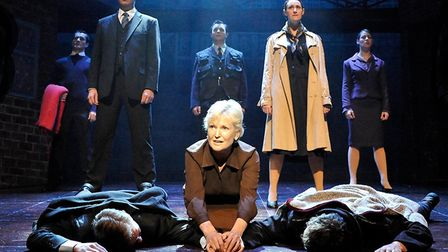Blood Brothers, at the Ipswich Regent this week. Photos include previous cast. Picture: CONTRIBUTED