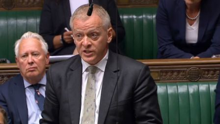 Former justice minister Phillip Lee speaking during the debate in the House of Commons Photo: PA
