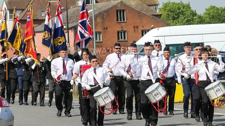 A parade was held ahead of the ceremony, which was hosted at Ipswich's Haven MarinaPicture: STEPHE
