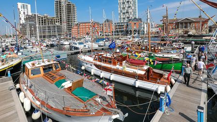 The Dunkirk Little Ships added a splash of colour to the Waterfront yesterdayPicture: STEPHEN WALL