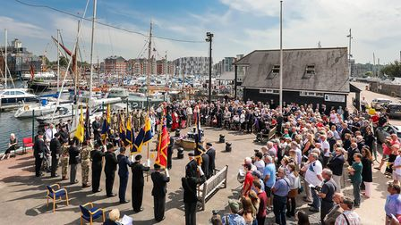 Dozens of people gathered to mark the ceremonyPicture: STEPHEN WALLER /www.stephenwaller.com