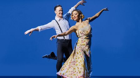 Strictly couple Kevin and Karen Clifton. Picture: RICHARD HAUGHTON