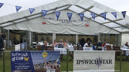 The East Anglian Daily Times and Ipswich Star tea tent at the Suffolk Show Picture: KATY SANDALLS