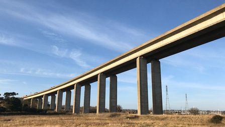 The Orwell Bridge, standing firm. Picture: ARCHANT