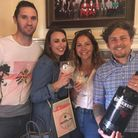George Creasey, Stacey Whebby, Fiona Canham and Tom Canham at the Ipswich Gin Festival Picture: E