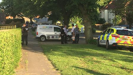 A police investigation has been launched following the incident in Packard Avenue Picture: ARCHANT