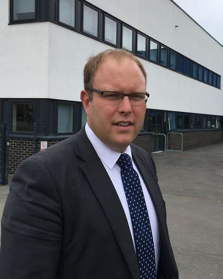 Paradigm Trust chief executive Bill Holledge outside Ipswich Academy Picture: JASON NOBLE