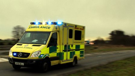 One of the vehicles involved in the collision was an ambulance Picture: SIMON PARKER