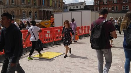 New paving on the Ipswich Cornhill Picture: ARCHANT