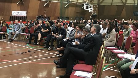 The public meeting had a large turnout, with dozens of people attending Picture: GEMMA MITCHELL