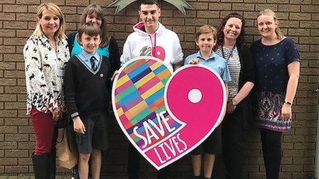 Jim Lynskey during his visit to St Matthew�s Church of England Primary School in Ipswich Picture: SA