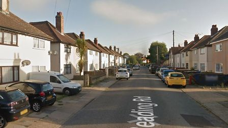 The crash happened in Reading Road, Ipswich Picture: GOOGLE MAPS