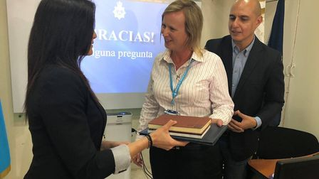 Sarah Elliott was awarded a diploma for the protection of children by the government of Guatemala. P