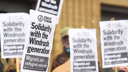 The Windrush scandal provoked protests around the country. Picture: IAN BURT