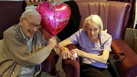 Sybil and Bill Bishop mark their 75th wedding anniversary Picture: KELVIN FREELAND