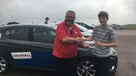George Berry and Jack Aldous at Young Drivers Picture: MEGAN ALDOUS