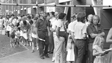 Fans queing up to get into Portman Road Picture: ARCHANT