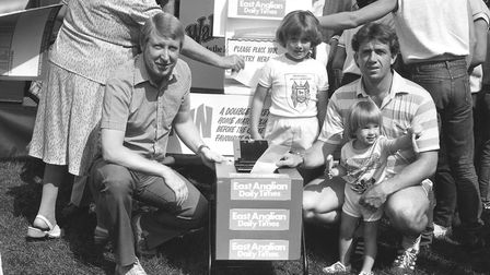 The EADT had a promotional stand at the event in 1986 Picture: ARCHANT