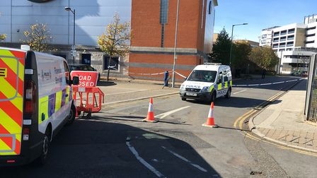 Forensic officers remained there for most of the day Picture: ADAM HOWLETT