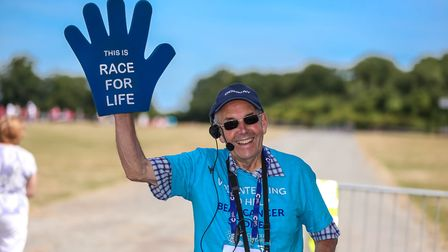 Colin Hammond, one of the volunteer crew at the Race for Life Picture: STEPHEN WALLER