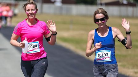 Runners take on the Race for Life in Ipswich Picture: STEPHEN WALLER