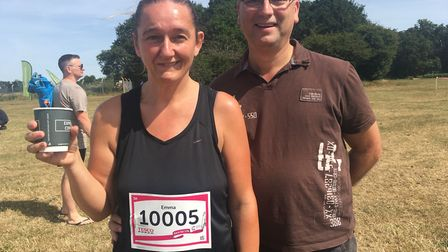 Emma and Stephen Lockwood at Race for Life in Ipswich Picture: GEMMA MITCHELL