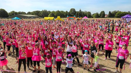 Women and children ahead of the Race for Life in Ipswich Picture: STEPHEN WALLER