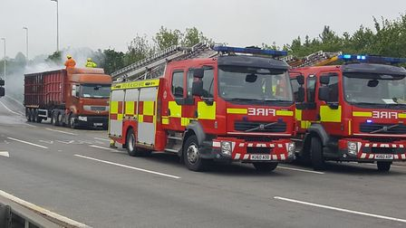 Fire crews attended a lorry fire on the A14 (stock image). Picture: GARETH PERKINS SUFFOLK FIRE AND