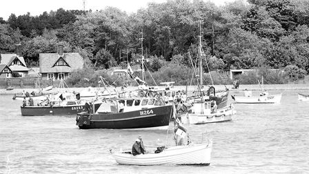 Boats all gather to celebrate RNLI day. Picture: JOHN KERR