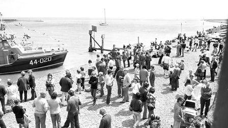 Hundreds are out at Felixstowe Ferry Sailing Club to watch the festivities. Picture: JOHN KERR